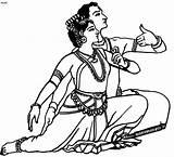 Kuchipudi Andhra Dancers Dancing Upanishads Kuchupudi Eyebrows Bhru Emboss sketch template