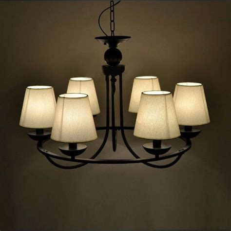 Chandelier Style Ceiling Lights by Black Iron 6 Fabric Lshape Pendant Chandelier European