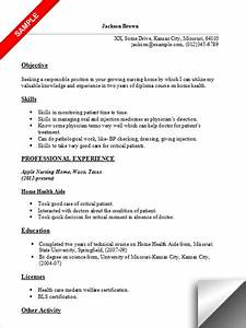 home health aide resume sample With health care aide resume