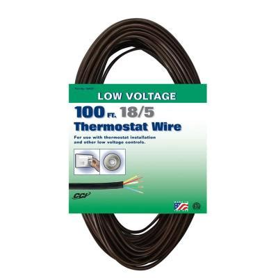 Coleman Cable Brown Solid Thermostat Wire