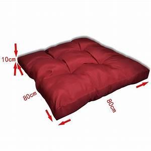 Holztisch 80 X 80 : almofada de assento 80 x 80 x 10 cm vermelho ~ Bigdaddyawards.com Haus und Dekorationen
