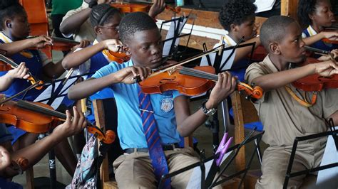 Perry ehrlich walks into vancouver's norman rothstein theatre, passing the 77 kids in the audience. Portfolio of Work - National Youth Orchestra Of Jamaica - Mary Fowles