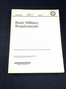 United States U S  Navy Basic Military Requirements Study