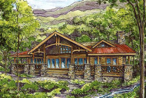 log home plan  twin master suites ww