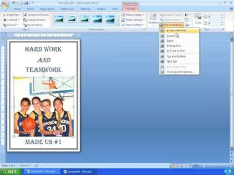 How to Make a Poster Using Microsoft Word | Simple poster ...