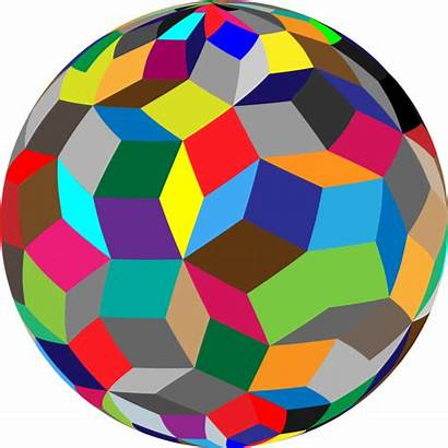 Sphere Clipart Transparent Geometry Geometric Colorful Clipartbarn