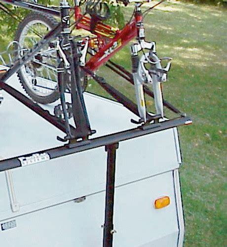 tent trailer bike rack prorac 2 two bike bicycle carrier rack popup tent trailer