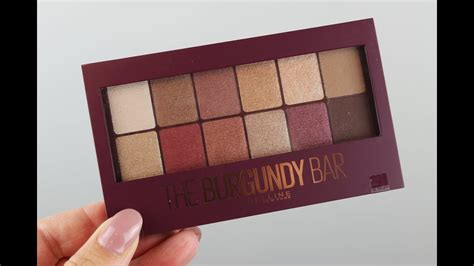 maybelline  burgundy bar eyeshadow palette swatches
