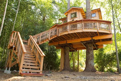 House In Tree by Orcas Island Treehouse Pete Nelson Nelson Treehouse