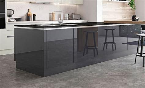 high gloss kitchen island zola gloss graphite kitchen stori 4218