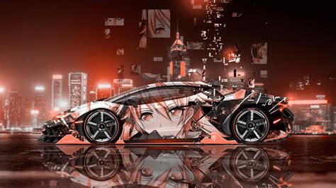 lamborghini centenario side super anime girl aerography