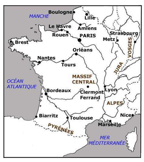 Carte Des Fleuves De Et Villes by Carte Equilibre