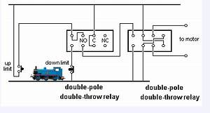 switches dc motor reversing relays using a micro switch With 2 way switch dc