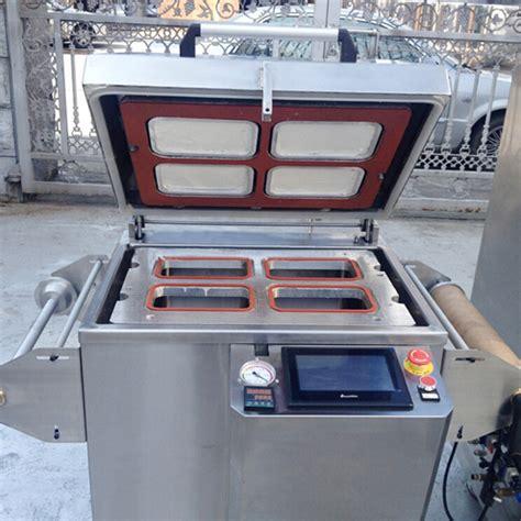 vacuum sealing machine semi automatic  nitrogen gas flushing function plc touch screen food