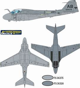 Grumman A 6 Intruder Low Visibility 2 Color Camouflage