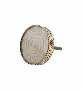 Bouton De Meuble : bouton de meuble rose sculpt e en os et m tal dor boutons ~ Teatrodelosmanantiales.com Idées de Décoration