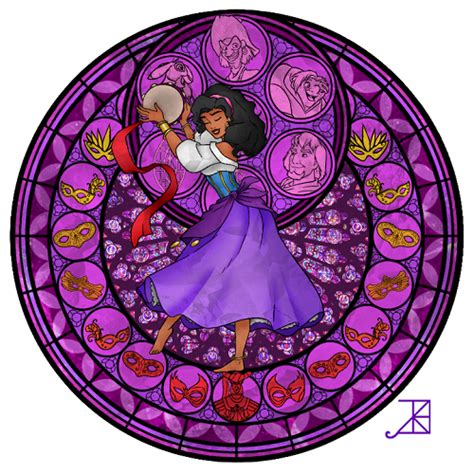 disney characters recreated  stained glass windows