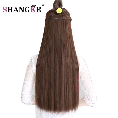 Shangke Hair 24 Long Straight Hair Extensions 5 Clips In