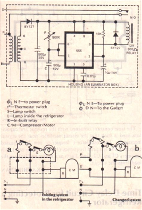 Simple Time Delay Relay Protector Circuit For Refrigerators
