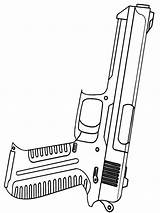 Coloring Pages Gun Boys Printable Galaxy sketch template