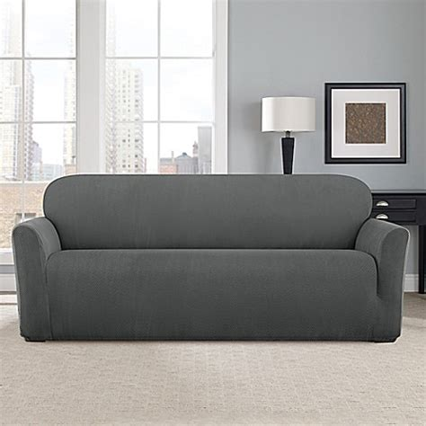 fit modern chevron sofa slipcover bed bath