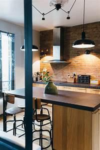 Cuisine Style Industriel Bois : nuances de bleu style industriel frenchy fancy ~ Teatrodelosmanantiales.com Idées de Décoration