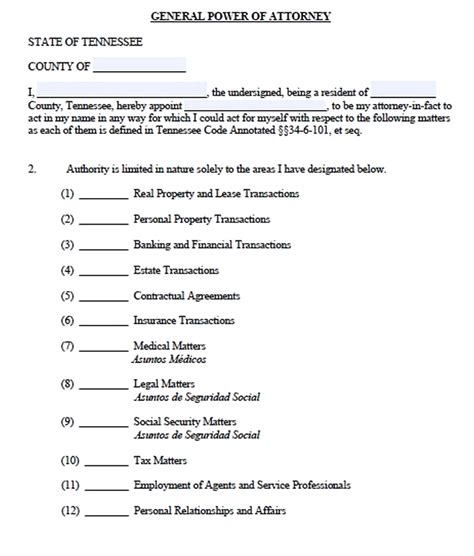 a power of attorney form in any type free job