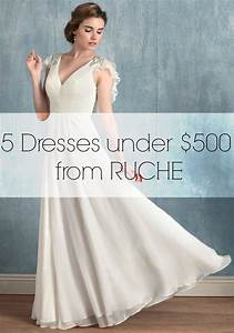 5 wedding dresses under 500 dollars from ruche aisle for Wedding dress under 500 dollars