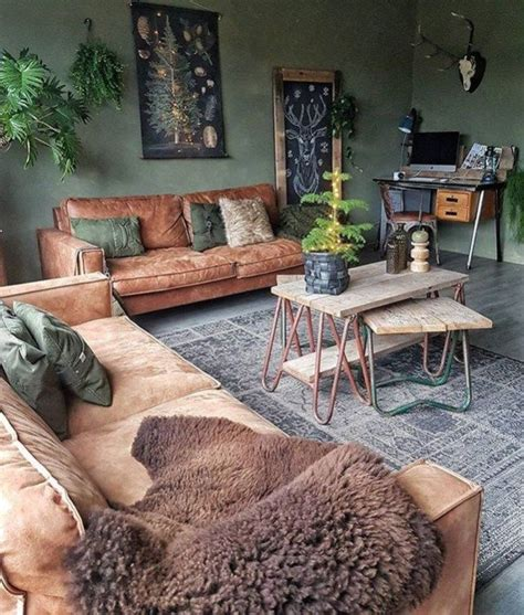 cozy green livingroom ideas design  decor living room decor home decor bohemian