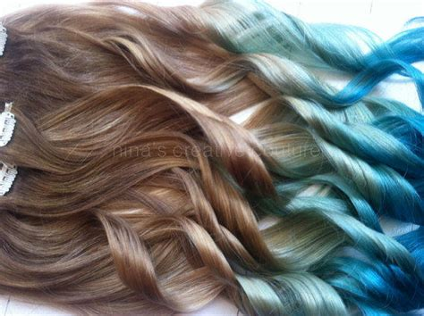 Mermaid Hair Ombre Hair Extensions Dark From Ninas Creative