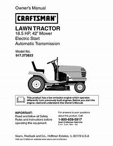 Craftsman Lawn Mower 917 273823 User Guide