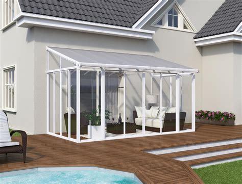 une veranda polycarbonate  aluminium facile  rapide