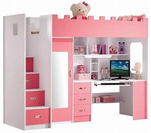 Lit Bureau Fille : roze hoogslaper voor meisjes 39 chica 39 door homify ~ Teatrodelosmanantiales.com Idées de Décoration