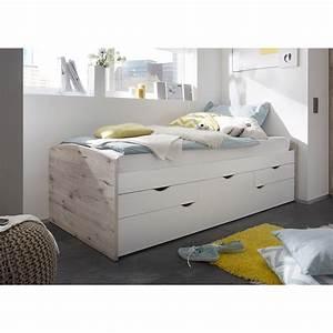 Bett Weiß 90x200 Ausziehbar : kojenbett nessi bett hochbett wei sandeiche eiche sonoma 2 liegefl chen 90x200 ebay ~ Indierocktalk.com Haus und Dekorationen