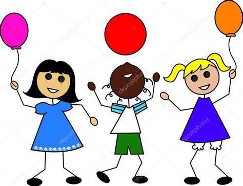 palloncini clipart illustrazione di clip di bambini dei cartoni animati