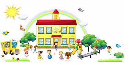 Kindergarten Clipart Preschool Transparent Wallpapers Students Sekolah