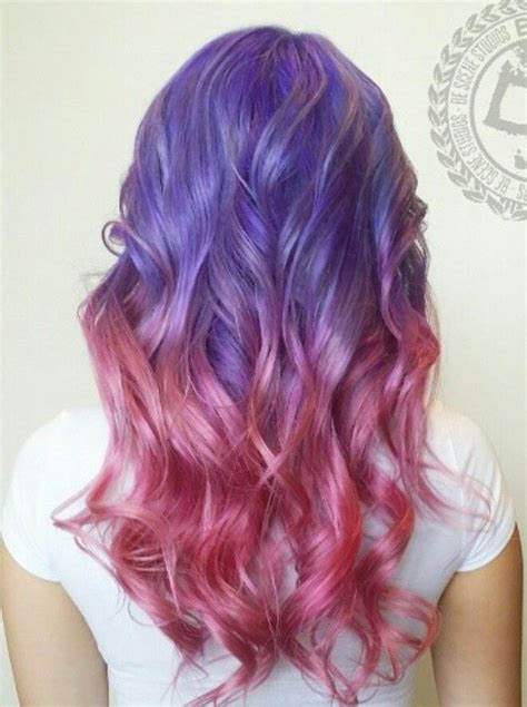 Purple Pink Dyed Scene Hair Pretty Dyed Hair