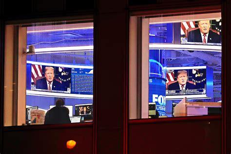 trump fox screen epa foley peter inside story headquarters manhattan immigration donald nation president address during