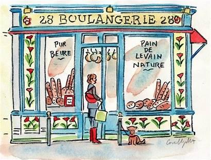 Boulangerie Paris Drawing Google Postcard Watercolor Breakfast