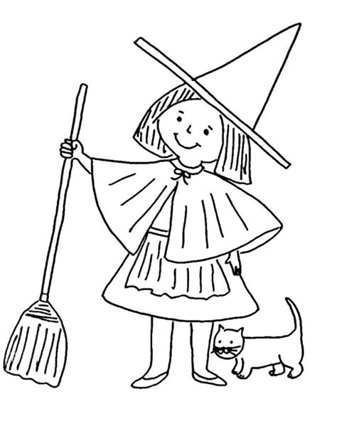 witch coloring pages getcoloringpagescom