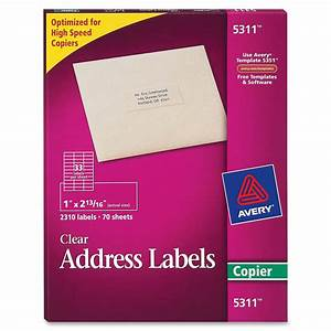 avery 5311 clear professional mailing labels permanent With avery clear mailing labels