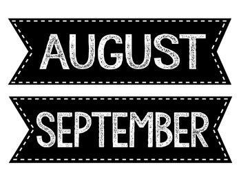calendar month labels  rtks fancy school nicknacks tpt