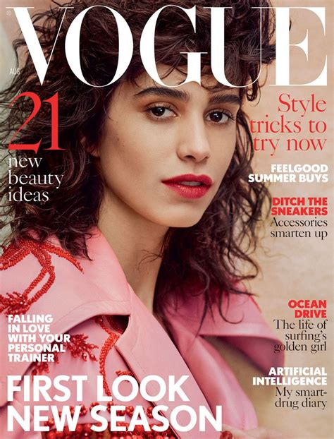 latest vogue cover mica arga 241 araz covers british vogue magazine august 2017