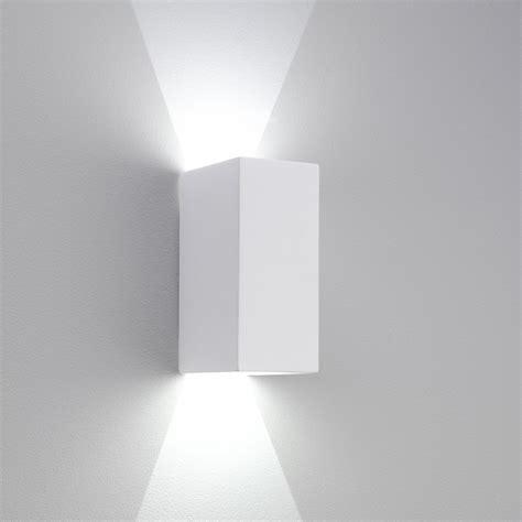 astro 7273 parma 210 led wall light white plaster