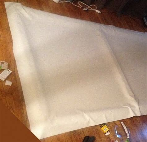 diy projector screen    dollars diy home