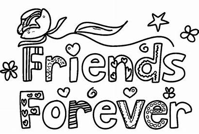 Coloring Pages Friends Friend Forever Printable Words