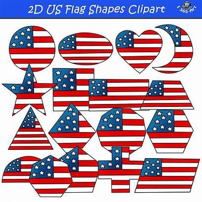 Flag Shapes American 2d Clipart Graphics Clip