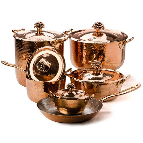 copper pots and pans set amoretti brothers fiore cookware set 6pce s of kensington