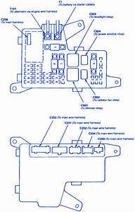 Honda Accord 1998 Engine Fuse Box  Block Circuit Breaker Diagram