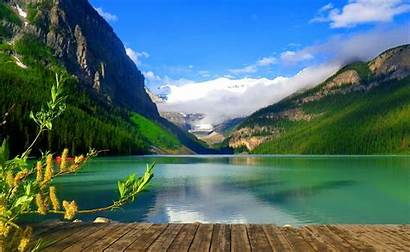Lake Desktop Backgrounds Louise Background Canada Wallpapers